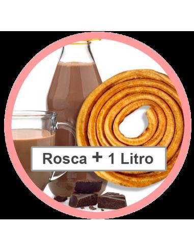 Rosca + 1 litro de chocolate